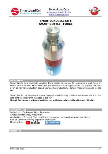 SB-F top load force testing bottle