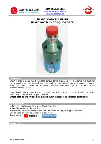 SB-TF torque-force (top load) testing bottle