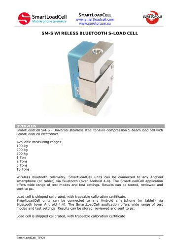 SM-S WIRELESS BLUETOOTH S-LOAD CELL