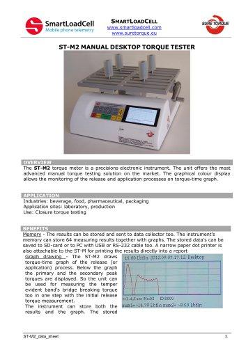 ST-M2 desktop manual torque tester
