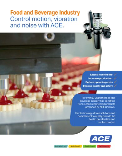 Food and Beverage Industry Control motion, vibration and noise with ACE