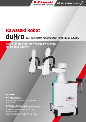 "Dual-arm SCARA Robot ""duAro"" for the Food Industry"