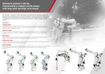 Kawasaki Robot M series Extra large payload robots up to 1,500 kg - 2