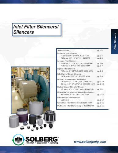Inlet Filter Silencers/ Silencers