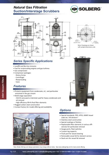 Separator Vessels for Natural Gas
