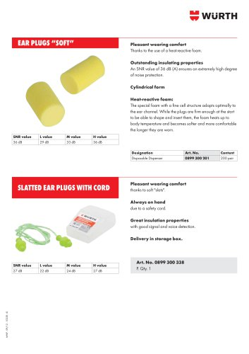 CORDED EAR PLUGS