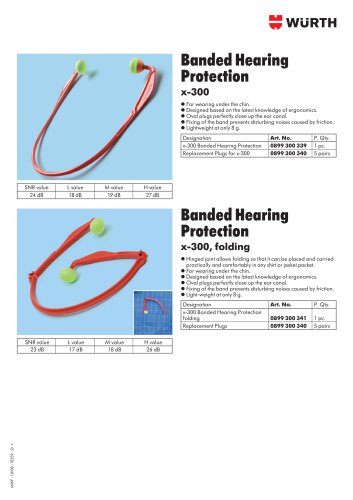 FOLDING EAR PLUG BAND X-300