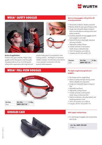 SAFETY GLASSES WEGA ®