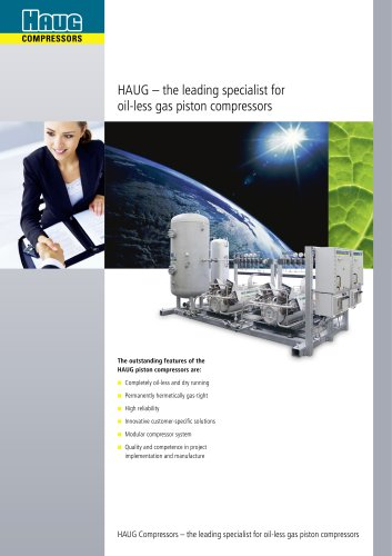 HAUG core competencies - oil-less, gas-tight and customised compressors