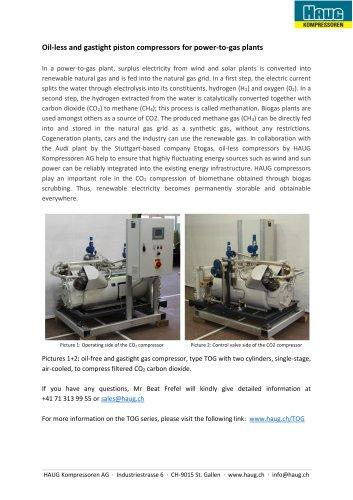 Oil-less and gastight piston compressors
