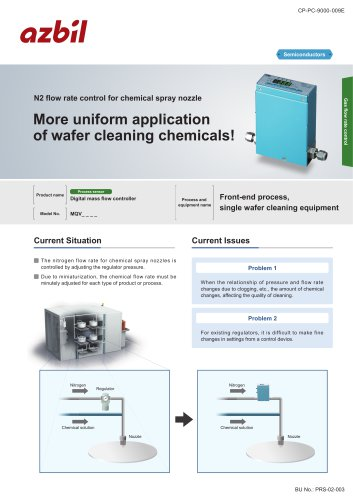N2 flow control for chemical nozzle