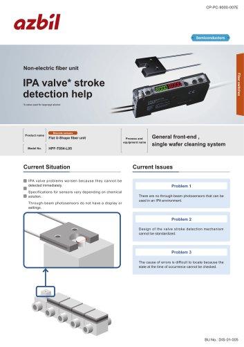 Valve stroke detection sensor