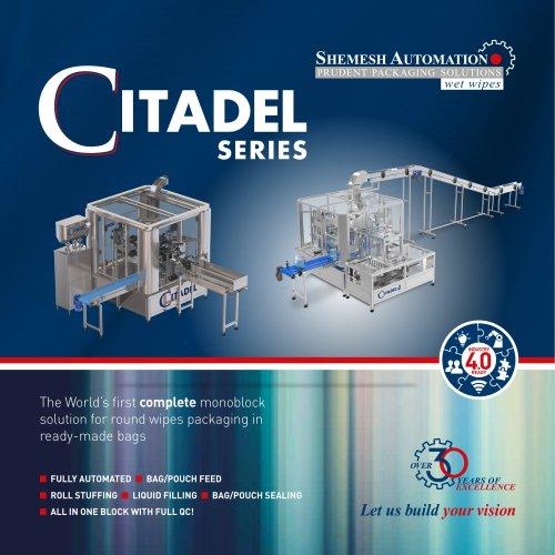 Citadel Packaging Machine for Wipes in flexible packs