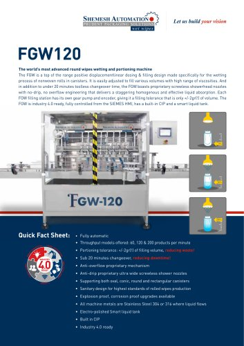 FGW120  advanced round wipes wetting and portioning machine