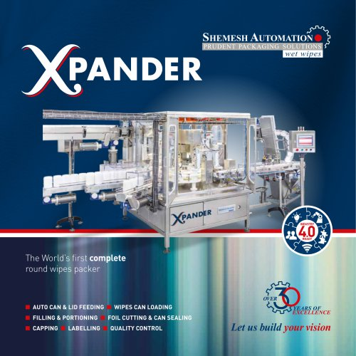 """Xpander"" Complete hands-free monoblock for round wipes in canisters"