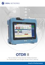 OTDR  II - Tier-2 Optical Time Domain Reflectometer  for Multimode and Single-mode Fibre Cabling
