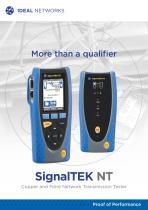 SignalTEK  NT - Copper and Fibre Network Transmission Tester
