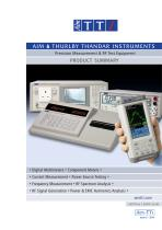 Precision Measurement & RF Test Equipment