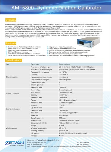 zetian/air quality monitoring/calibration/Dynamic dilution calibrator/AM-5800/air quality monitoring analyzer