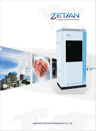 zetian/continuous emission monitoring system/condensation/flue gas analyzer/EM-5-CD/DeSOx/DeNOx/power plants/Waste incineration/cement/steel marking