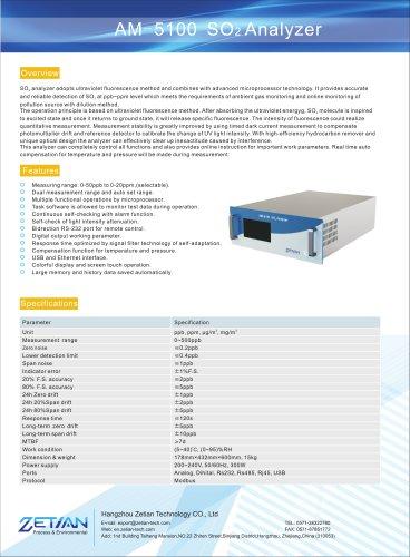 zetian/environmental/air quality monitoring system/gas analyzer/analyzer