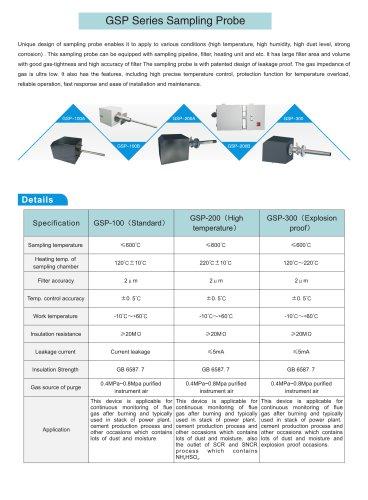 zetian/environmental/industrial//monitoring solutions/sampling probe/power plant/cement/coal-burned/steel making/iron making