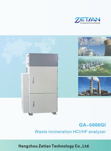 Zetian/HF/HCl online monitoring/emission control/continuous online monitor/GA-5000GI/waste incineration