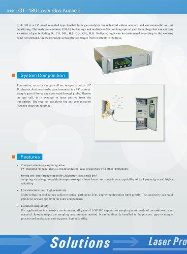 zetian/laser gas analyzer/rack mounted/TDLAS/industrial process/LGT-180/iron making, steel making, coking, refining, petrochemical, flue gas, cement, thermal power