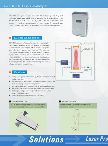Zetian/laser gas analzyer/TDLAS/flameproof/LGT-200/environmental/petrochemicals/steel/
