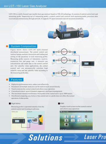 zetian/multi-channel gas analyzer/TDLAS/online monitor/industrial process/LGT-150/iron making, steel making, coking, refining, petrochemical, flue gas, cement, thermal power