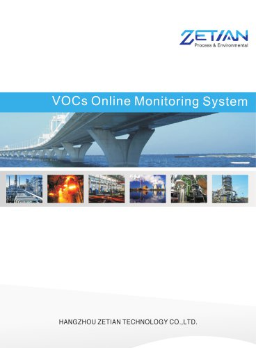 Zetian/VOCs online monitoring system/emission control/emission monitoring/VOCs/TOC online monitoring system/CH4/NMHC/BTEX/methane/GCOM-3000/plastic manufacturing/Pharmaceutical mannufacturing/rubber making plants/printing industry