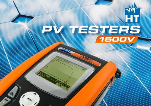 brochure for full HT range of PV testers