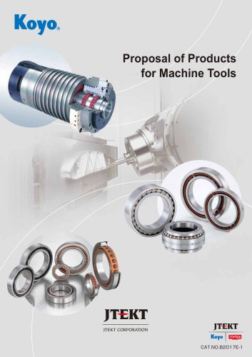 B2017E Proposal of products for Machine tools
