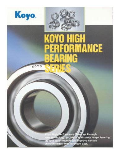 High Performance Bearings
