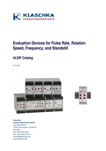 Klaschka -Evaluation Devices for Speed, Pulse Rotation (ALDIF)