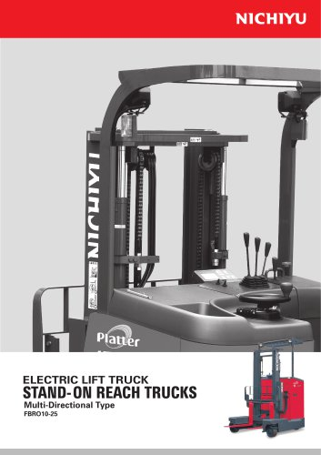 ELECTRIC LIFT TRUCK STAND-ON REACH TRUCKS FBRO10-25