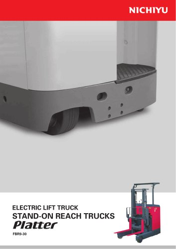 ELECTRIC LIFT TRUCK STAND - ON REACH TRUCKS