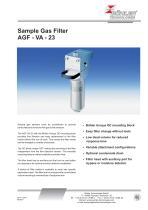 Sample Gas Filter AGF - VA 23