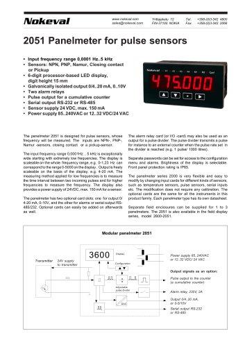 2051 Panelmeter for pulse sensors