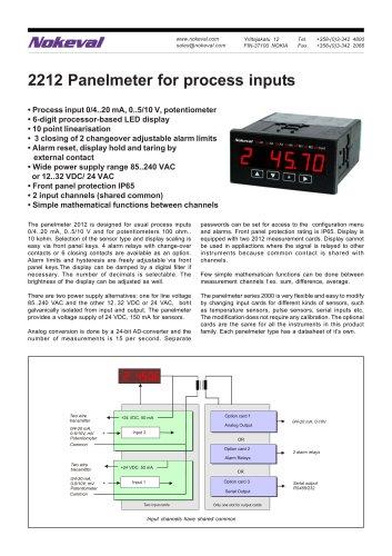 2212 Panelmeter