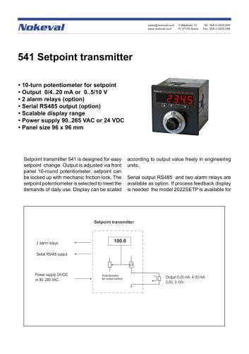 541 Setpoint transmitter