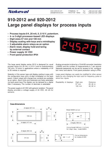 910E5-2012 Process Inputs