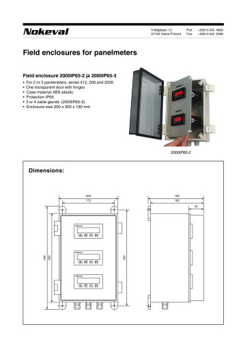Field enclosures for panelmeters