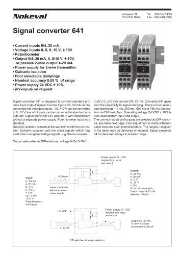 Signal converter 641