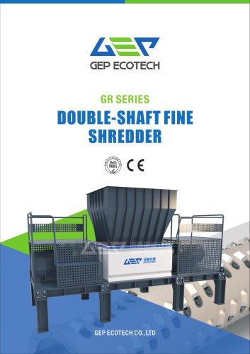 GR series double-shaft fine shredder