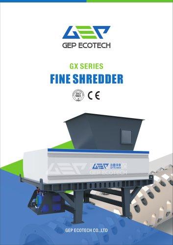 GX series single shaft fine shredder
