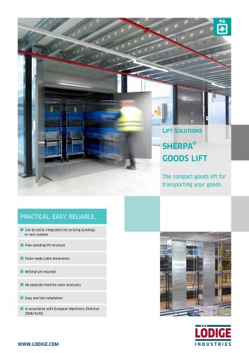 Goods only lift SHERPA® | Lödige Industries