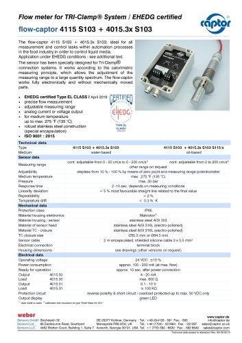 flow-captor 4115 S103 + 4015.3x S103