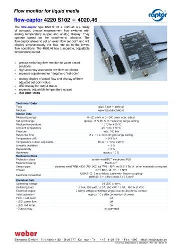 flow-captor 4220 S102 + 4020.46