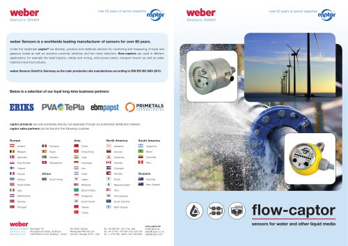 Flow-Captor Sensors for water and other liquid media